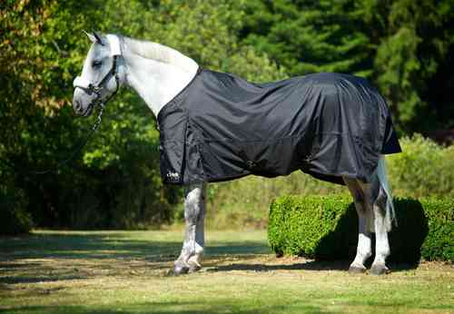 Back on Track Regendecke Rain Rug with Split 1680 D schwarz