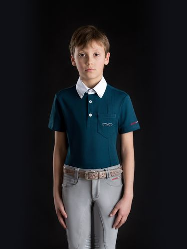 Animo Kinder Turniershirt Boy's Polo Adel Farbe Acciaio icegrau
