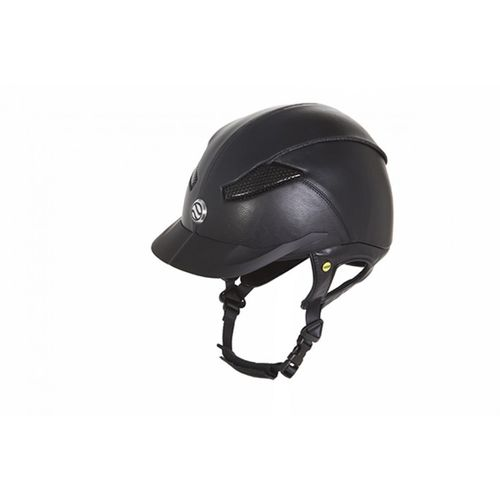 Back on Track Reithelm Reitkappe EQ3 Lynx PU-leather schwarz